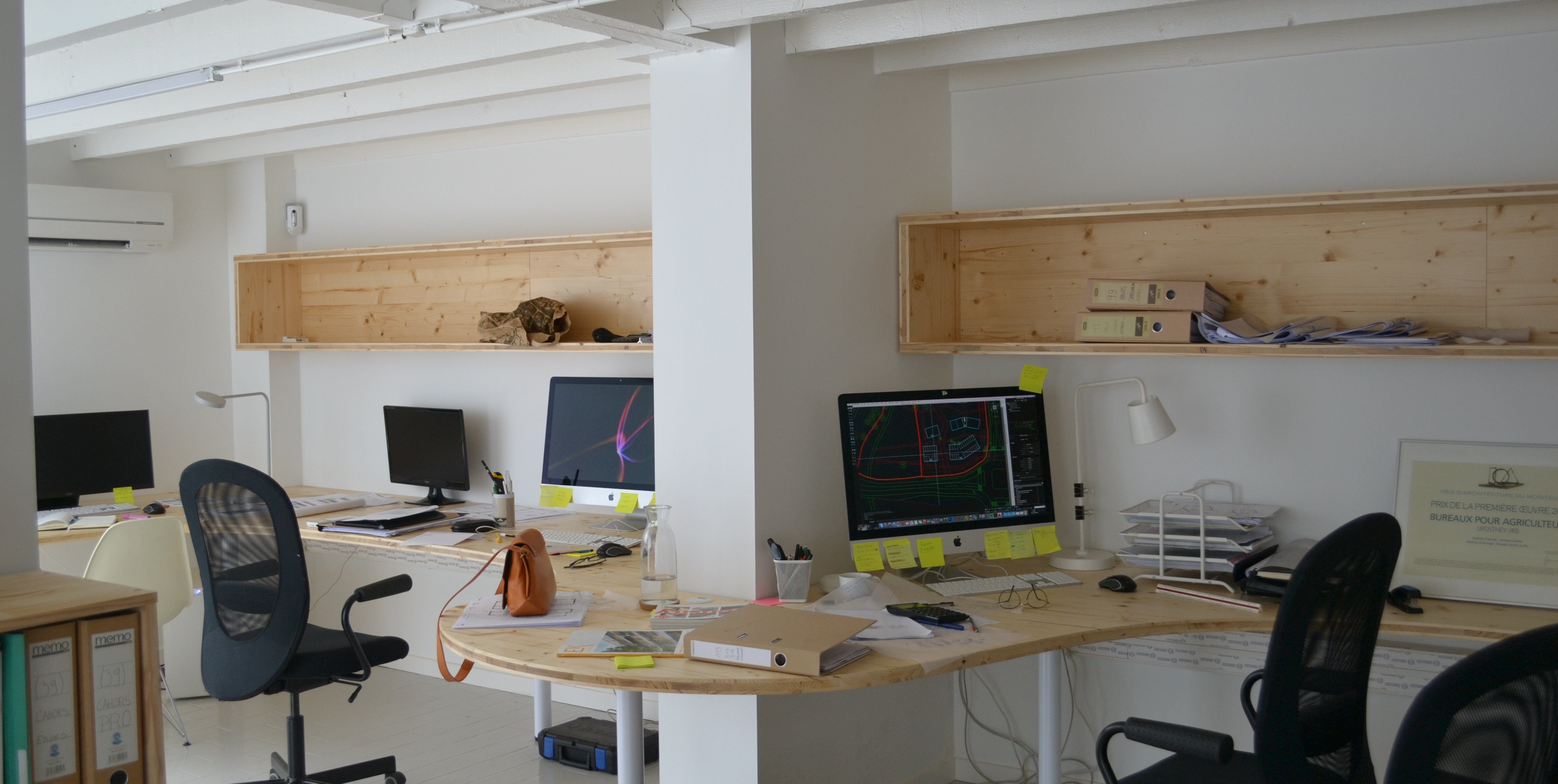 Projet oeco bureau bois escalier kansei