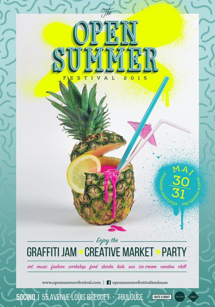 30-31 mai 2015, 11h-19h30 : 4ème édition du Graffiti Jam : réalisation de fresquesCreative Market : stands de créateurs avec restauration & buvette