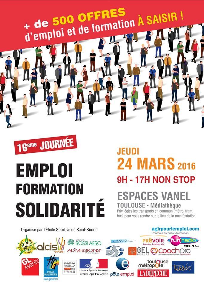 16ème Journée  Emploi Formation Solidarité, le 24 mars 2016