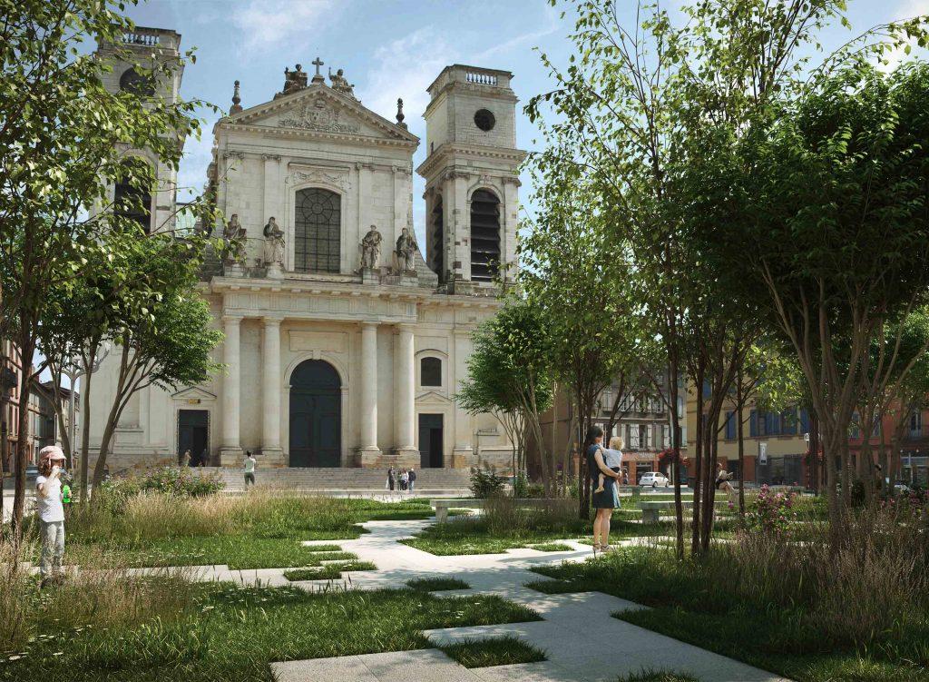 """Le réaménagement du centre ville de Montauban en """"petit Central Park"""""""