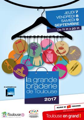 La grande braderie de Toulouse revient pour sa 5e  édition, le 7, 8 et 9 septembre 2017