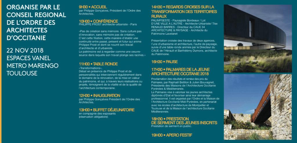 journee architecture, urbanisme, occitanie