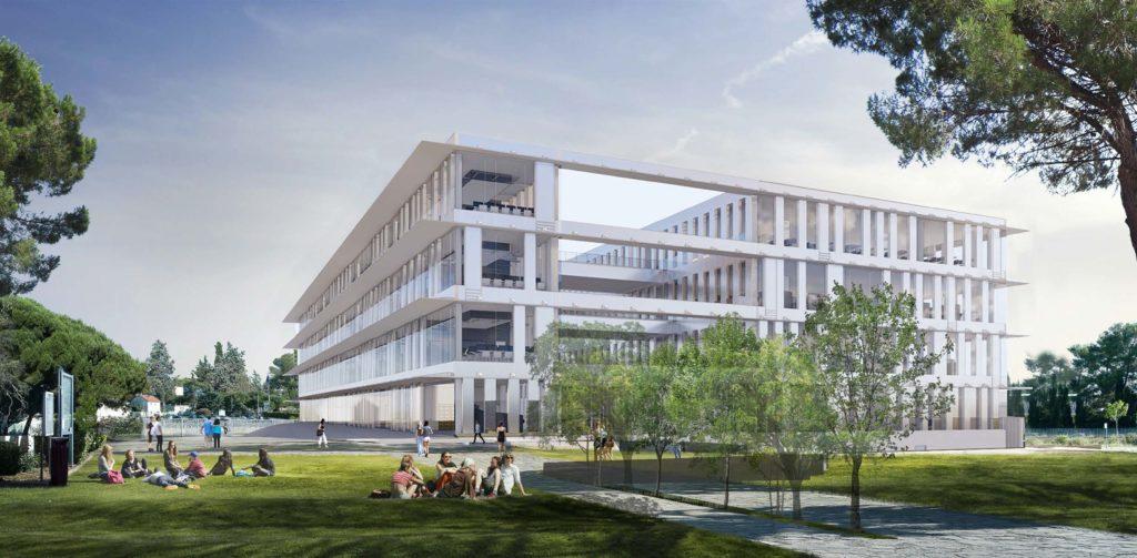 L'Atrium, le futur learning center de l'université Paul Valéry de Montpellier