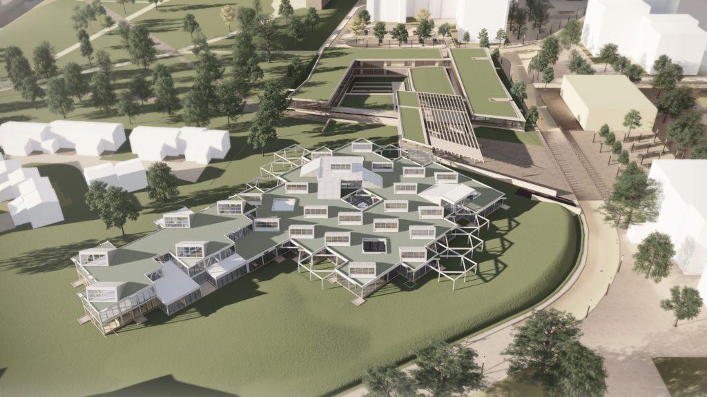 Projet d'extension de l'ENSA Toulouse  par l'agence de Pierre-Louis Faloci, Kansei TV