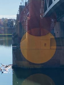 L'œuvre de Georges Rousse au Pont Saint-Pierre de Toulouse, Kansei TV